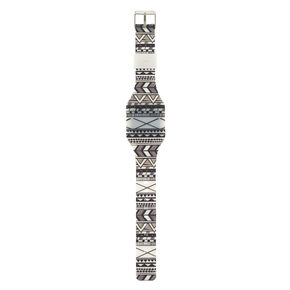 Aztec LED Watch - White,