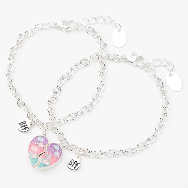 Best Friends Glow in the Dark Split Heart Charm Bracelets - 2 Pack,