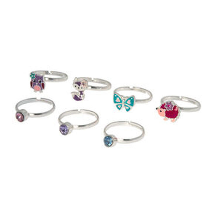 Claire's Club Forest Friends Rings - 7 Pack,