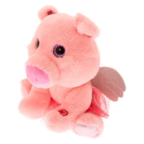Claire's Club Oinking Pig Soft Toy - Pink,