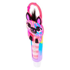 Rainbow Zebra Lip Gloss Tube - Watermelon,