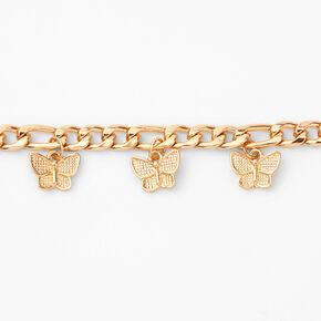 Gold Butterfly Charm Bracelet,