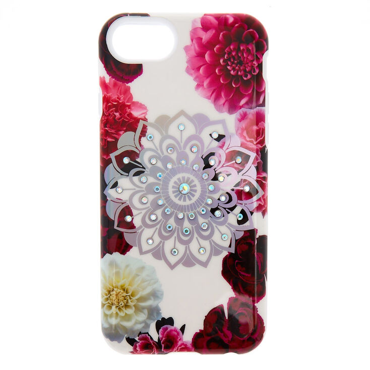 Coque de portable mandala floral bling-bling,
