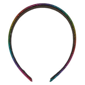 Metallic Rainbow Headband,