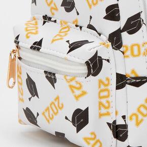 2021 Graduation Mini Backpack Keychain - White,