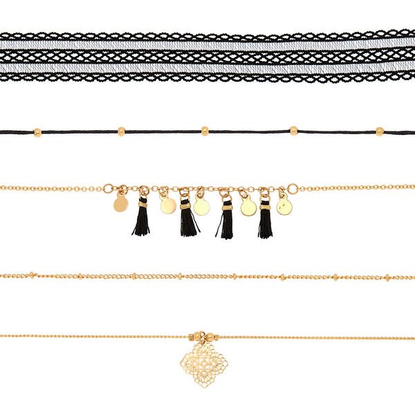 Claire's - assorted choker necklaces - 2