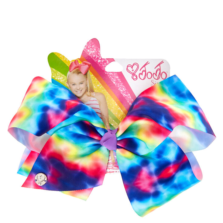 Jojo Siwa Trade Large Rainbow Tie Dye Signature Hair Bow