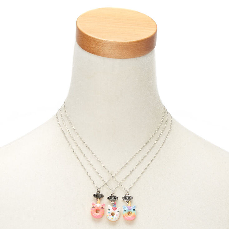 Best Friends Unicorn Donut Necklaces - 3 Pack,