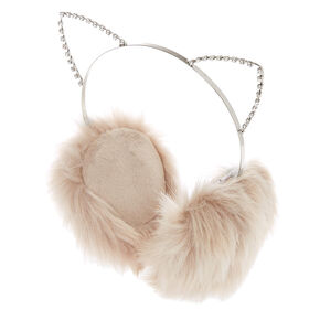 Go to Product: Crystal Embellished Cat Ear Muffs - Grey from Claires