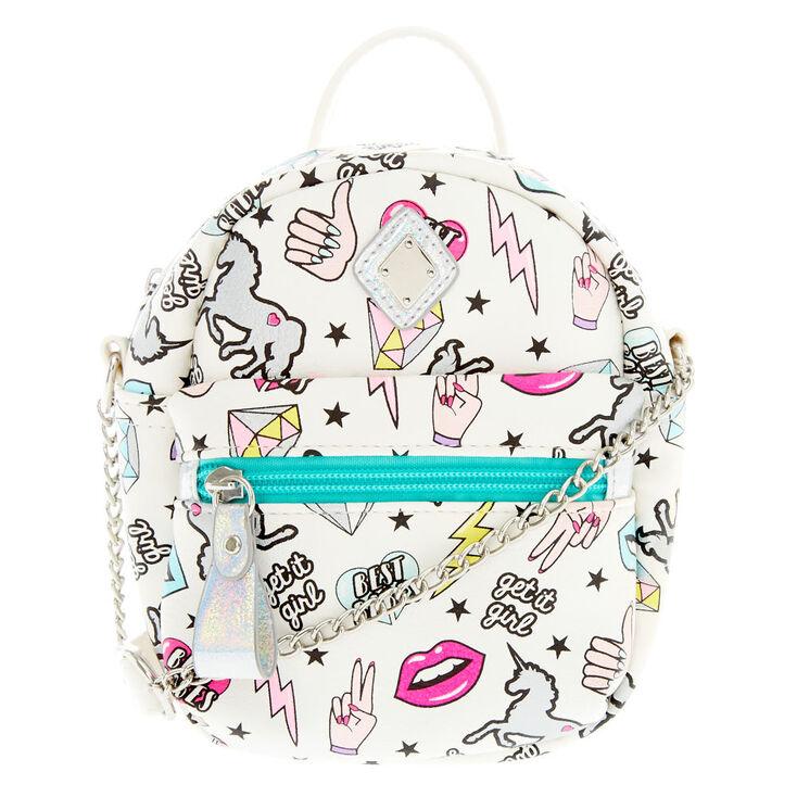 b825e6e70f55 Unicorn Power Patches Mini Backpack Crossbody Bag