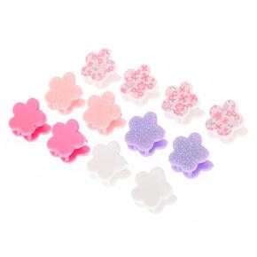 Claire's Club Mini Floral Hair Claws - 12 Pack,