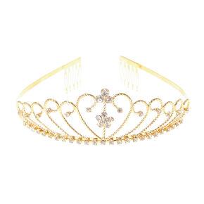 Gold Embellished Daisy Tiara,