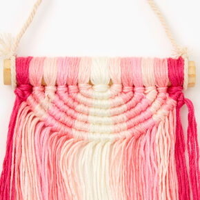 Ombre Macrame Hanging Wall Art - Pink,