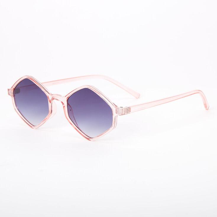 Hexagon Sunglasses - Pink,