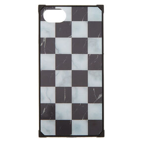 Chequered Marble Square Phone Case - Fits iPhone 6/7/8/SE,