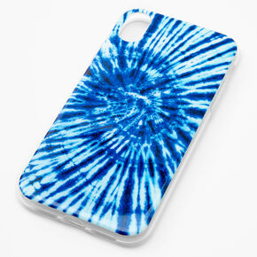 Navy Tie Dye Phone Case - Fits iPhone XR,