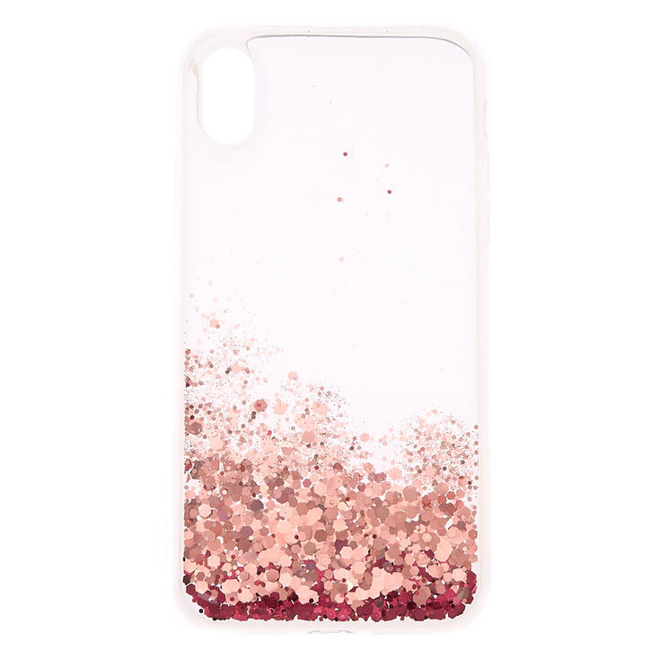 info for d21b5 3e9fb Pink Glitter Cascade Protective Phone Case - Fits iPhone XR