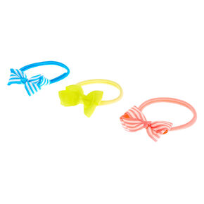 Claire's Club Rolled Bow Headwraps - 3 Pack,