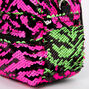 Reversible Sequin Zebra Mini Backpack Crossbody Bag,