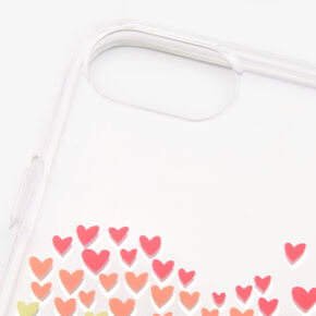 Rainbow Hearts Clear Phone Case - Fits iPhone 6/7/8/SE,