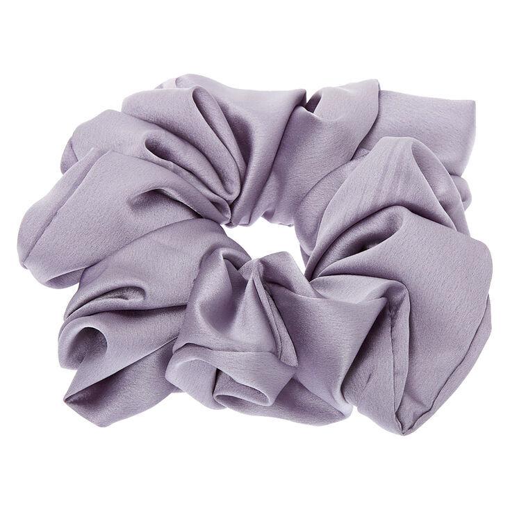 Giant Satin Hair Scrunchie - Grey,
