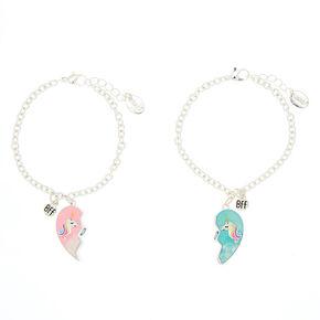 Best Friends Unicorn Heart Charm Bracelets 2 Pack