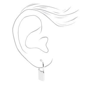 Silver Lock Stud Earrings,