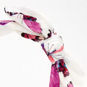 Serre-tête à nœud noué papillon - Blanc,