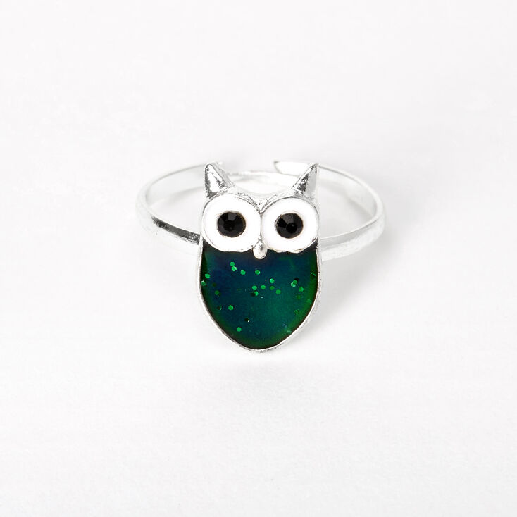 Silver Owl Mood Ring,