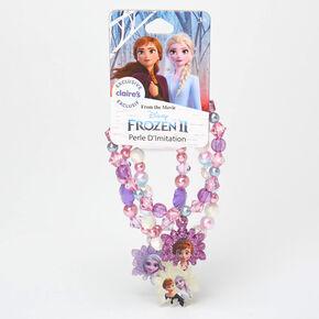 Bracelets élastiques perlés violets La Reine des Neiges2 ©Disney - Lot de 3,