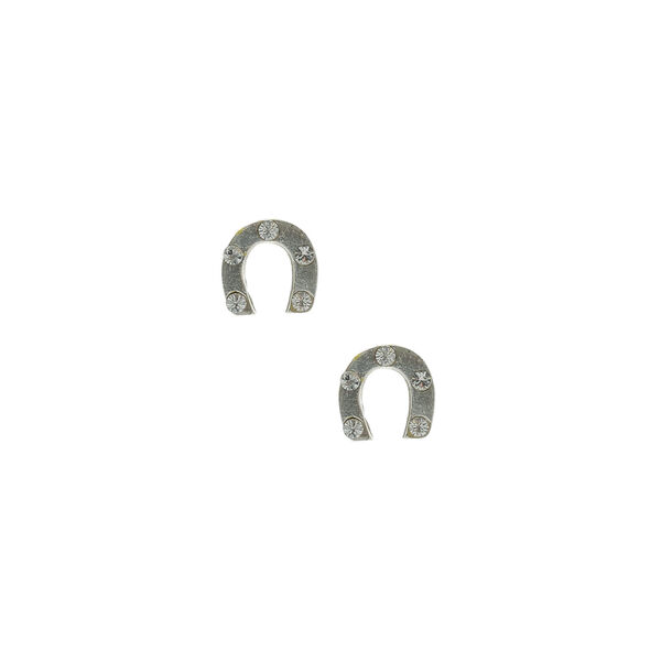 Claire's - sterling horseshoe stud earrings - 1