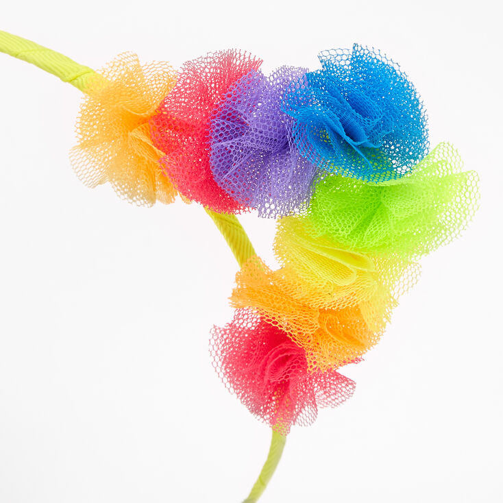 Rainbow Tulle Cat Ears Headband,