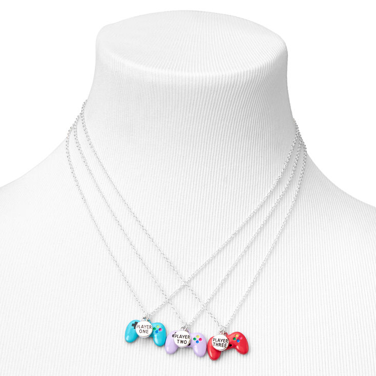 Best Friend Game Controller Pendant Necklaces - 3 Pack,