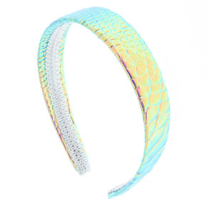 Holographic Faux Snakeskin Headwrap,