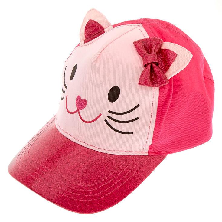 51fce9bd78 Kids Pink Glitter Cat Baseball Cap | Claire's