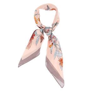 Silky Cherry Blossom Bandana Headwrap - Pink,
