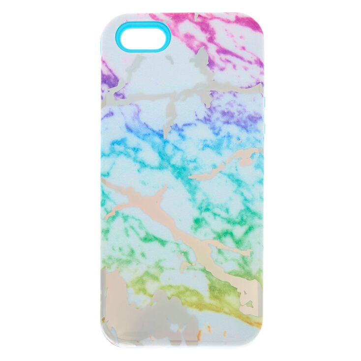 premium selection 576d3 cc223 Rainbow Marble Protective Phone Case - Fits iPhone 5/5S/SE