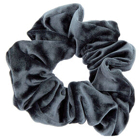 Medium Velvet Hair Scrunchie - Slate Grey,