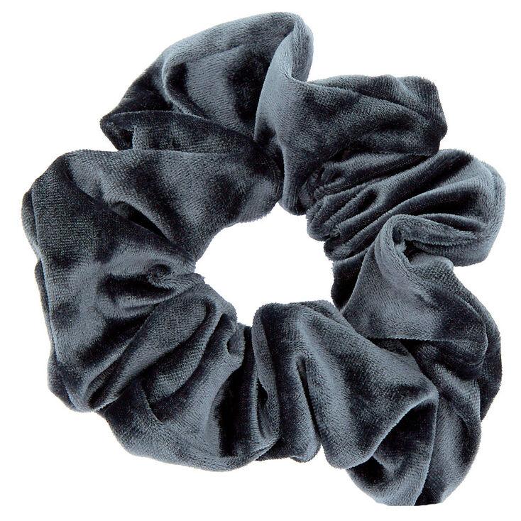 Medium Velvet Hair Scrunchie - Slate Gray,