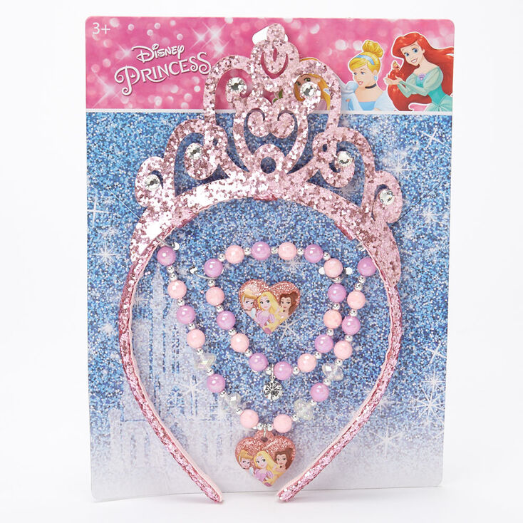 ©Disney Princess Headband & Jewellery Set – Pink, 4 Pack,