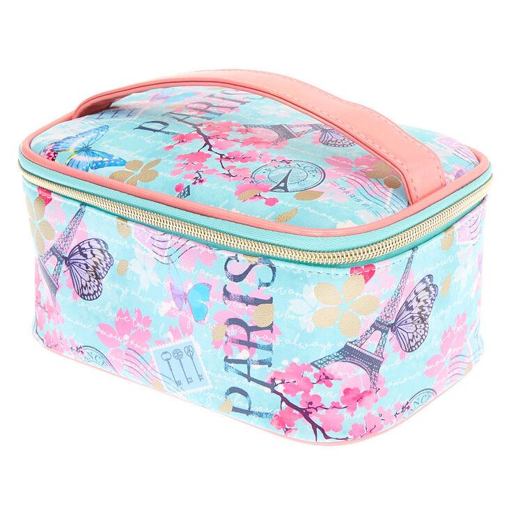 Parisian Butterfly Makeup Bag - Mint,