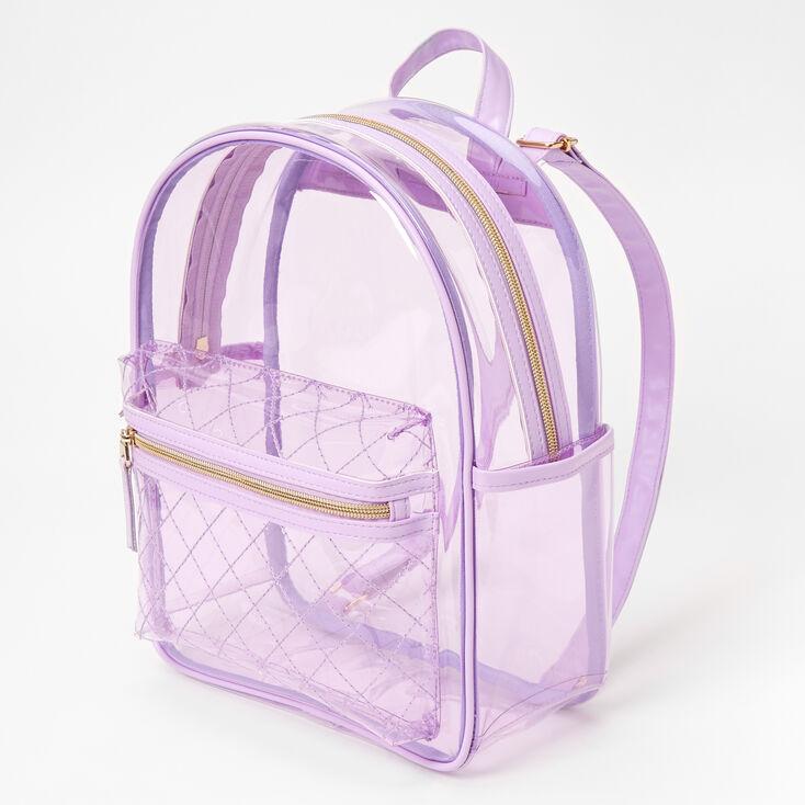 Transparent Medium Backpack - Lavender,