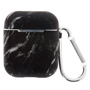 Étui pour écouteurs en silicone noir effet marbré - Compatible avec les Apple Airpods®,