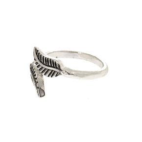 Silver Leaf Wrap Toe Ring,