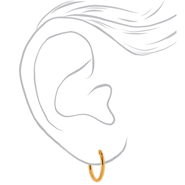 Claire's - 18kt plated hinged hoop earrings - 2