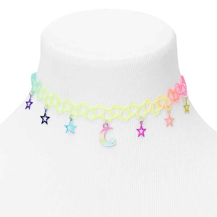 Rainbow Celestial Tattoo Choker Necklace,