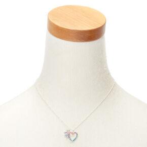 Miss Glitter the Unicorn Heart Pendant Necklace,