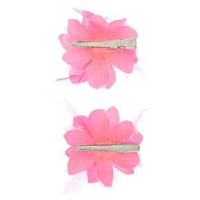 9aba6ff00 Sequin Lily Flower Hair Clips - Neon Pink, 2 Pack