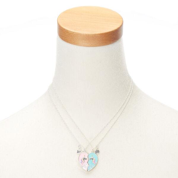 Claire's - best friends unicorn heart pendant necklaces - 2