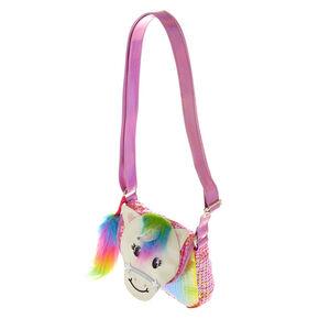 1a64bf1c641 Claire s Club Starbright the Unicorn Rainbow Unicorn Sequin Purse
